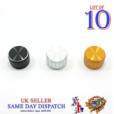 10x Push on Knob for Potentiometer Plastic Cap 26mm Different Colors
