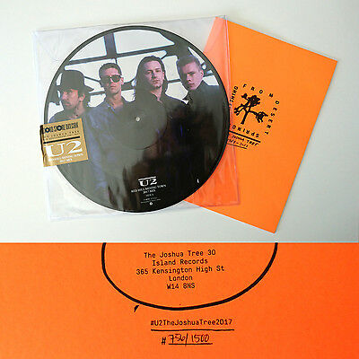 """U2 Red Hill Mining Town 12"""" Record Store Day + Limited Booklet 756/1500 RSD"""