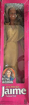 "Ultra Rare Vintage The Bionic Woman Jamie Sommers 18"" Super Size Fashion Doll By"