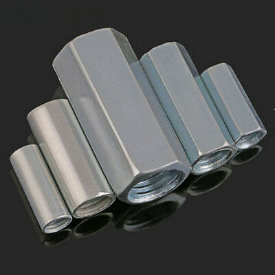 M6-M20 Hex/Round Long Connector Joint Nut Galvanized Extended Coupling Nuts