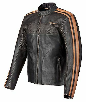 GENUINE Triumph Motorcycles Restore Retro Black/Brown Classic Jacket > 50% OFF