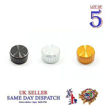 5x Push on Knob for Potentiometer Plastic Cap 30mm Different Colors