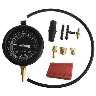 Fuel Pump Vacuum Tester Gauge Leak Carburetor Pressure Diagnostics w/ Case New