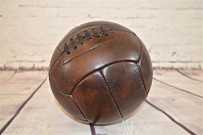 18 panel vintage style football ball leather retro ball size 5