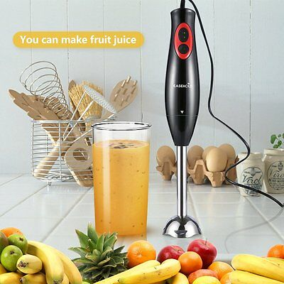 300W Hand Blender Food Mixer Processor Handheld Whisk Beater 2 Speed UK Stock