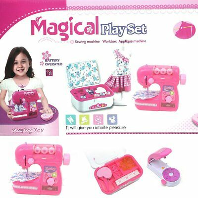 Electronic Toy Sewing Machine Magical Play Set Battery Operated Kids Pretend Toy