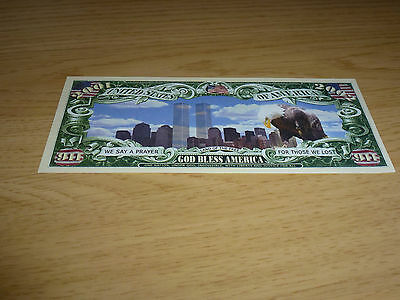 9/11 Twin Towers God Bless America Bank Note Brand New