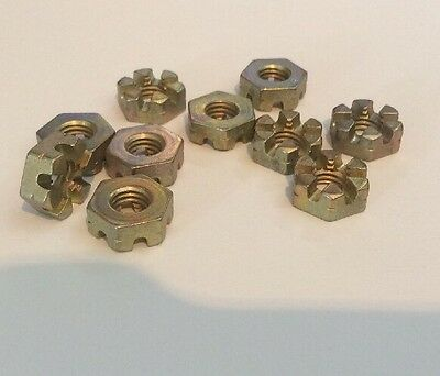 "NOS 1/4"" BSF Steel Slotted Shear Nut A58-ES qty 10 (G)"