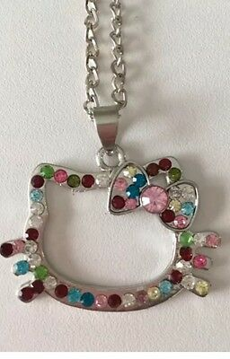 Hello Kitty Multicoloured Necklace Outline