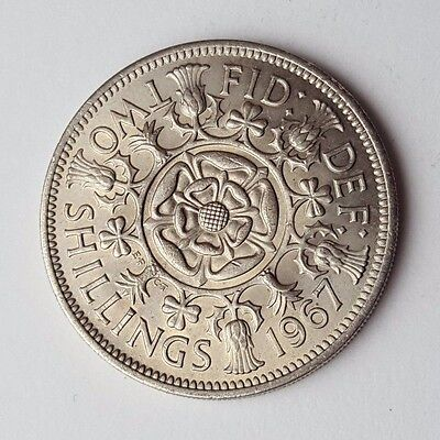 Dated : 1967 - Queen Elizabeth II - One Florin / Two Shillings Coin