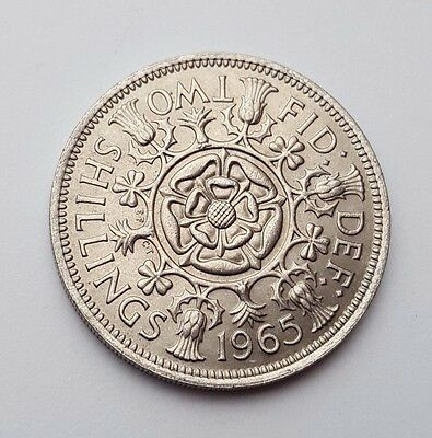 Dated : 1965 - Queen Elizabeth II - One Florin / Two Shillings Coin
