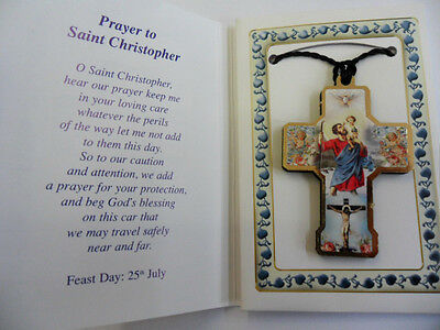 Saint St.Christopher Prayer leaflet with cross