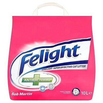 Bob Martin Felight Antibacterial Cat Litter, 10L Fast acting [ FREE DELIVERY ]