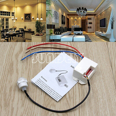 1x  Brand New PIR Ceiling Motion Sensor Light Switch Mini Recessed 360 Degree