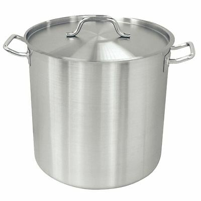 Vogue Deep Stockpot Made of Stainless Steel - Induction Compatible 360mm