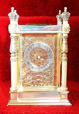 Garrard Solid Silver Case Double Fusee 150th Anniversary (1993) Carriage Clock