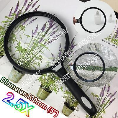 New Extra Large Handheld Magnifier Fine Print/Map Reading Giant Magnifying Glass