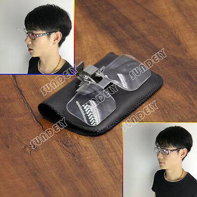 Hi-Q 2x Clip On Flip Up Magnifying Glasses Spectacles Magnification Magnifiers