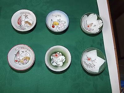 Original Ww2 Imperial Japanese Army Sake Cups-Lot Of Six