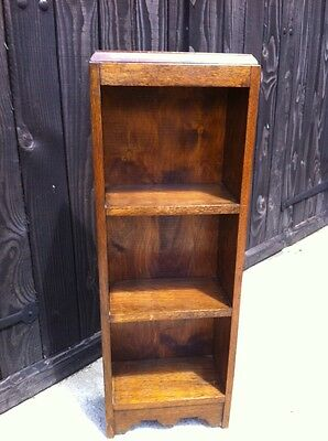 Vintage Oak Bookcase Antique Country Cottage Shabby Chic Small Retro