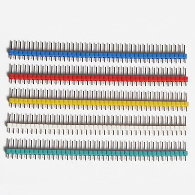 2.54mm 1x40Pin Single Row Pin PCB Headers Strip 6-Color for Arduino Raspberry Pi