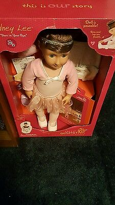 """Sydney Lee And Stars In Your Eyes Ballerina 18"""" Doll Our Generation W/ Book Plus"""
