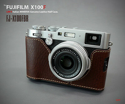 Lim's Design Lims Genuine Italy Leather Case for Fuji X100F Brown