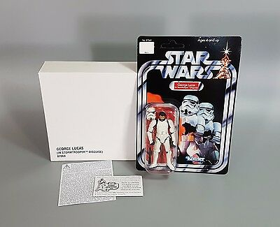 Star Wars George Lucas In Stormtrooper Disguise Exclusive Mint w/ Mail Away Box!