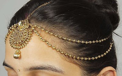 32 Latest Pakistani Matha Patti Pearl Stone Indian Maang Tikka Bridal Head Chain