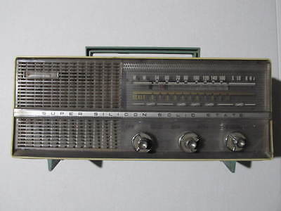 Rare Vintage Made In Korea Super Silicon Solid State Radio, Mw.... Tested