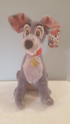 """Official Disney Store Lady And The Tramp Plush """"16 Tramp Soft Toy Tagged"""