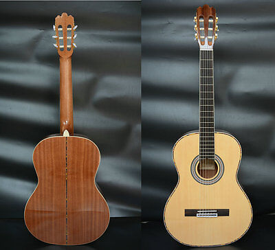Hand Made Solid Wood Classical Guitar 41'' Size for Advanced Royal Guitar Case