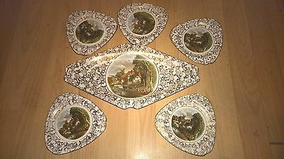 """BCM Genuine Lord Nelson Ware Constable """"Valley Farm"""" Set 6 Plates"""