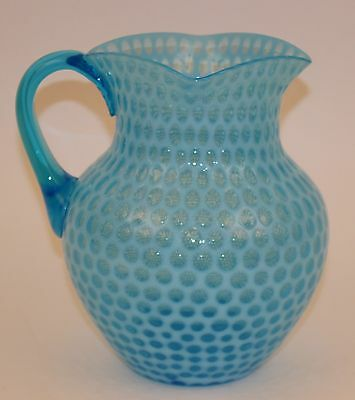 Hobbs Brochunier Windows Blue Opalescent Pitcher Square Top