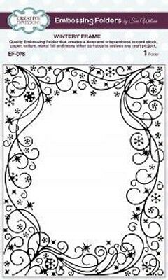 "Creative Expressions Embossing Folder Wintery Frame 5 3/4 x7 1/2""  EF-076"