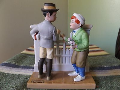 Norman Rockwell Figurine, THE RIVALS - 1980 Danbury Mint, Porcelain Figurine