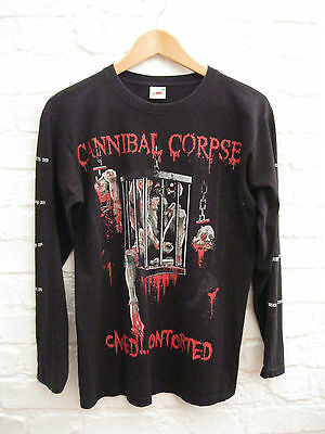 CANNIBAL CORPSE 'Caged Contorted' Long Sleeve Metal Band Shirt. Size Small S