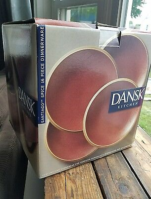 Dansk Santiago Spice Stoneware 16 Piece 4 Place Settings Brand New In Box NvUsed