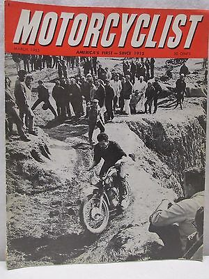 Vintage Motorcyclist Magazine March 1965 Enduro Motocross Motorcycle