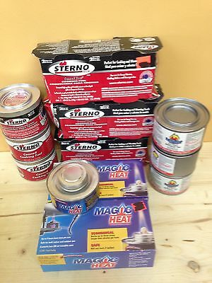 17 - 7 Oz Cans Of Sterno Fuel Various Brands NEW
