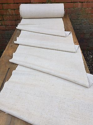 5 Metres Of Vintage Hemp Table/Stair Runner Upholstery Fabric Organic Material