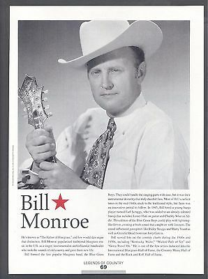 "Bill Monroe, Country Music Star in 2014 Magazine Clipping, ""Father of Bluegrass"""