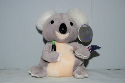 Coca Cola Quala The Koala Australia International Plush Beanie Lovey Toy Doll