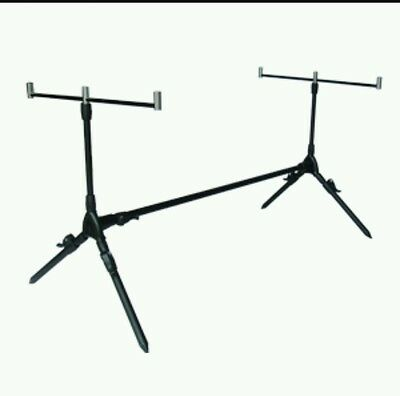 NGT Carp Fishing Tackle 3 Rod Pod Stand Set Deal with Rests And Case