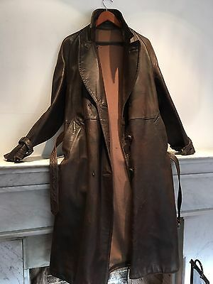 Genuine WWII French/German Secret Service? Horsehide Leather Coat