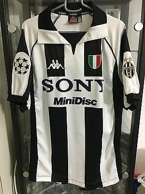 Juventus Centenary Kappa 1997/98 Zinedine Zidane Medium Champion League Jersey