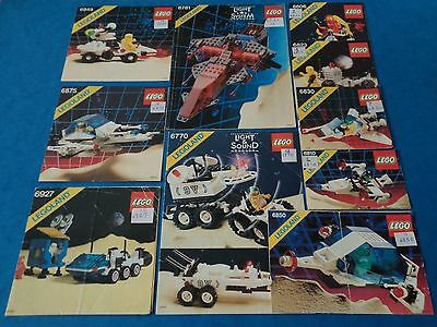 Vintage - LEGO SPACE INSTRUCTIONS -Bundle Of Instructions For Various 1980s Sets