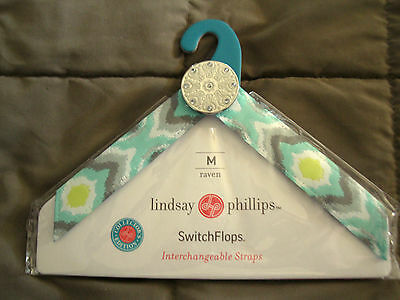Lindsay Phillips Pair of Raven Size Large Shoe Straps  Retired & Rare!  NIP