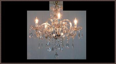 Vintage Italian crystal chandelier Never Used 10 arms Stunning Leaded Crystals