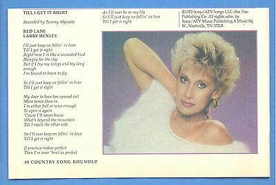 Tammy Wynette, Country Music Star in 1996 Magazine Print Photo Clipping
